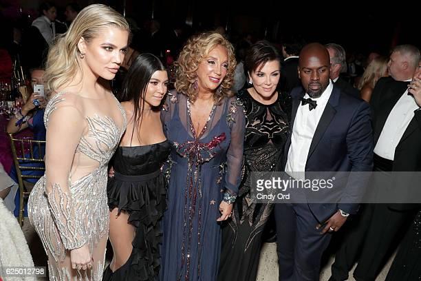 Khloe Kardashian Kourtney Kardashian Denise Rich Kris Jenner and Corey Gamble attend the 2016 Angel Ball hosted by Gabrielle's Angel Foundation For...