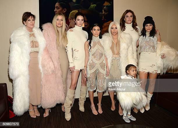 Khloe Kardashian Kris Jenner Kendall Jenner Kourtney Kardashian Kim Kardashian West North West Caitlyn Jenner and Kylie Jenner attend Kanye West...