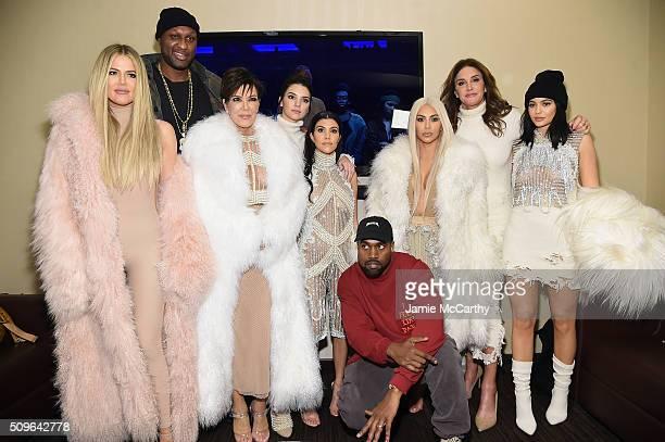 Khloe Kardashian Lamar Odom Kris Jenner Kendall Jenner Kourtney Kardashian Kanye West Kim Kardashian Caitlin Jenner and Kylie Jenner attend Kanye...