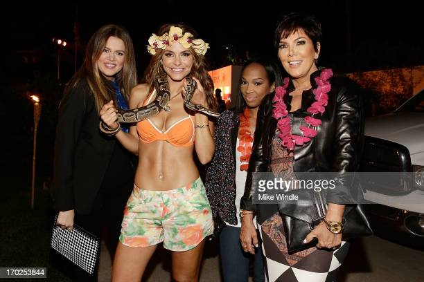 Khloe Kardashian, Maria Menounos, Malika Haqq and Kris Jenner attend the C. Wonder and Patron Tequila party to celebrate Maria Menounos' birthday on...