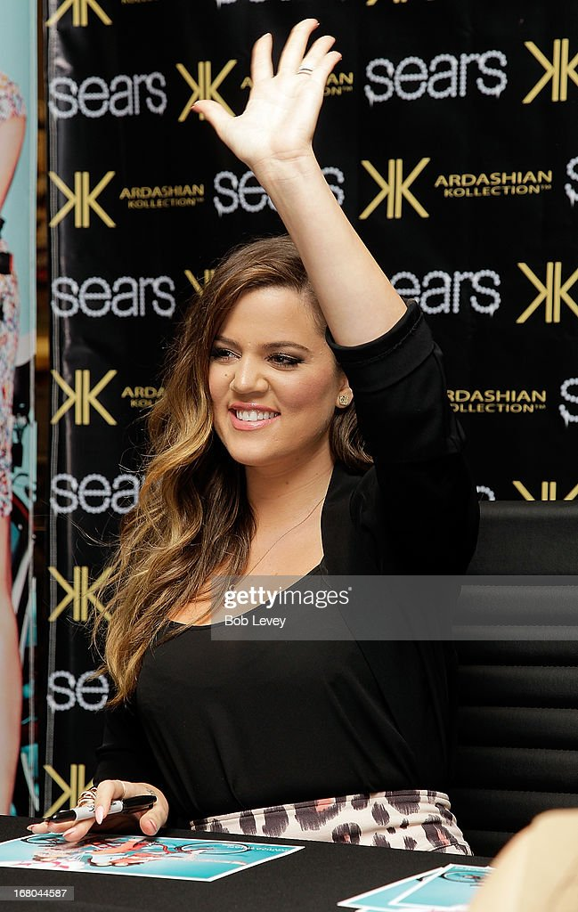 Khloe Kardashian Odom greet fans during a Sears In-Store Appearance For Kardashian Kollection at Willowbrook Mall on May 4, 2013 in Houston, Texas.