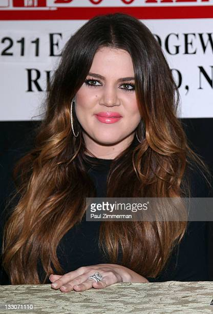 """Khloe Kardashian promotes the new book """"Dollhouse"""" at Bookends Bookstore on November 16, 2011 in Ridgewood, New Jersey."""