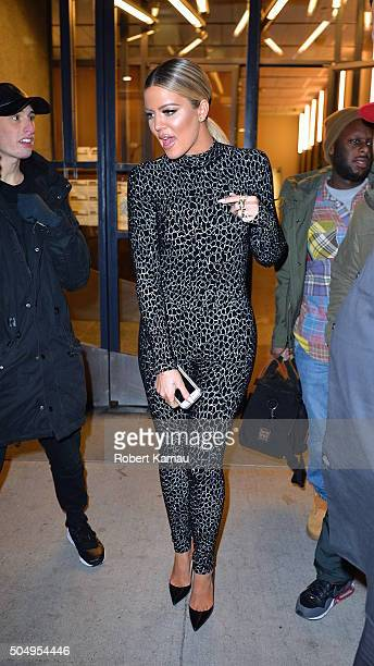 Khloe Kardashian seen leaving the Watch What Happens Live Studio on January 13 2016 in New York City