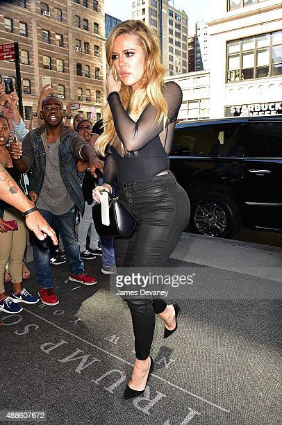 Khloe Kardashian seen on the streets of Manhattan on September 16 2015 in New York City