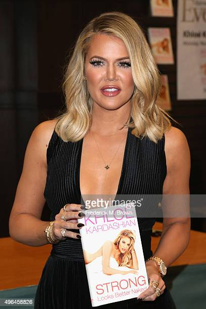 Khloe Kardashian signs and discusses her new book Strong Looks Better Naked at Barnes Noble at The Grove on November 9 2015 in Los Angeles California