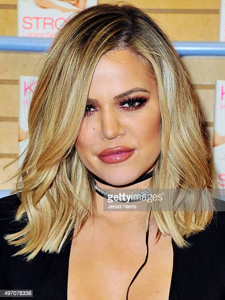 Khloe Kardashian signs copies of her new book 'Strong Looks Better Naked' at Barnes Noble on November 13 2015 in San Diego California