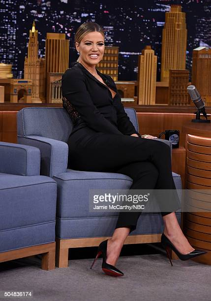 Khloe Kardashian visits 'The Tonight Show Starring Jimmy Fallon'at Rockefeller Center on January 13 2016 in New York City