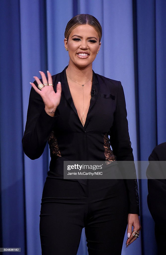 Khloe Kardashian visits 'The Tonight Show Starring Jimmy Fallon'at Rockefeller Center on January 13, 2016 in New York City.
