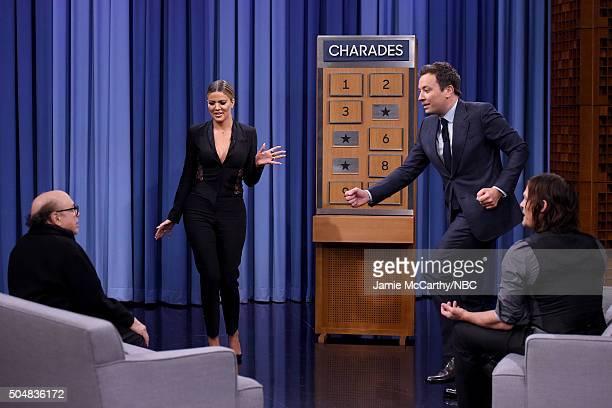 Khloe KardashianDanny Devito Jimmy Fallon and Norman Reedus play charades during a segment on 'The Tonight Show Starring Jimmy Fallon'at Rockefeller...