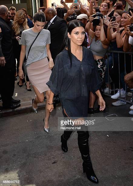 Khloe KardashianKourtney Kardashian and Kendall Jenner are seen outside Kanye West Yeezy Season 2 New York Fashion Week show at Skylight Modern on...