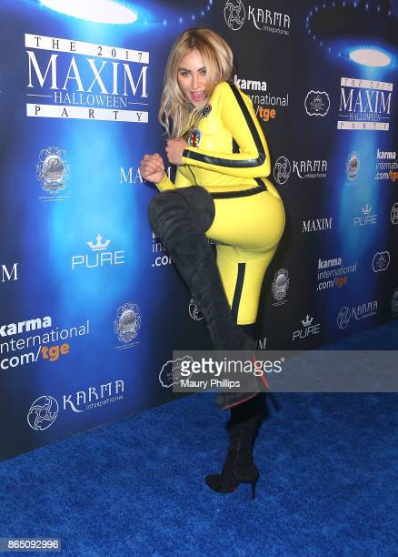 Khloe Terae arrives at the 2017 Maxim Halloween Party at Los Angeles Center Studios on October 21 2017 in Los Angeles California