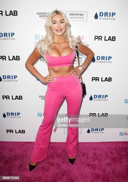 Khloe Terae attends the Babes for Boobs live auction benefiting Susan G Komen LA at El Rey Theatre on June 7 2018 in Los Angeles California