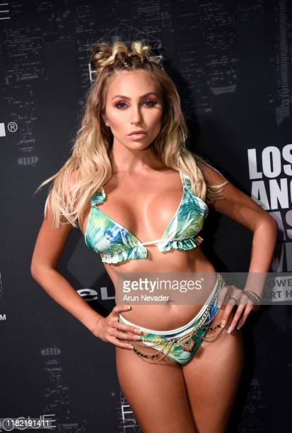 Khloe Terae backstage during Los Angeles Fashion Week SS/20 Powered by Art Hearts Fashion Day 3 on October 19 2019 in Los Angeles California