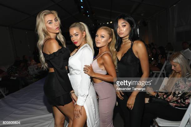 Khloe Terae Katie Carpenter Kay De Courval and Harmony Carter attend the SWIMMIAMI Prey Swim by Audrina Patridge Resort 2018 Collection fashion show...