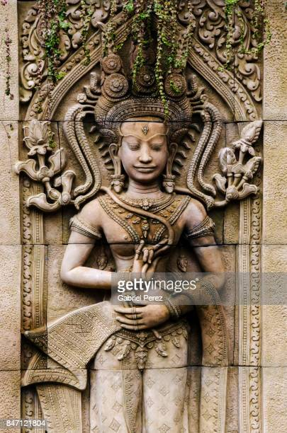 a khmer buddha statue - theravada stock pictures, royalty-free photos & images