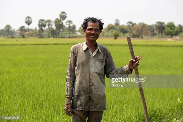 Khmer farmer on Koh Dach Koh Dach Cambodia