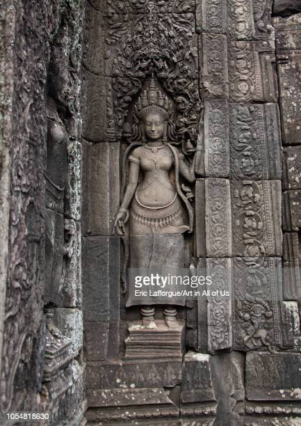 Khmer statue in Angkor wat Siem Reap Province Angkor Cambodia on July 25 2006 in Angkor Cambodia