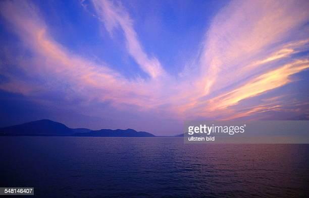 Abendrot über dem Ozean