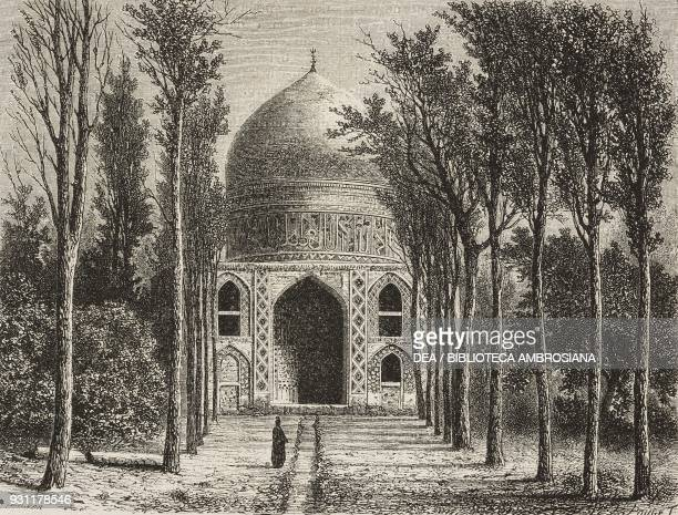 KhojaRebi mosque north of Mashhad Iran drawing by Alexandre de Bar from Narrative of a Journey into Khorasan by N de Khanikoff illustration from The...