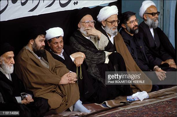 Non Muslim Perspective On The Revolution Of Imam Hussain: Ayatollah Khomeini Stock-Fotos Und Bilder