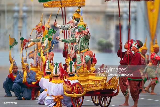 Khon dance the traditional Thai masked dance drama, based on the classic Hindu Ramayana epics.