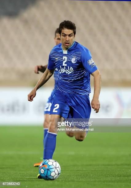 Khosro Heydari of Esteghlal in action during AFC Champions League match between Esteghlal vs Al Ahli FC at Azadi Stadium on April 25 2017 in Tehran...