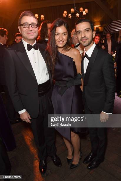 Khosro Nikpay Sarah Chofakian and Imran Amed attend the gala dinner in honour of Edward Enninful winner of the Global VOICES Award 2019 during...
