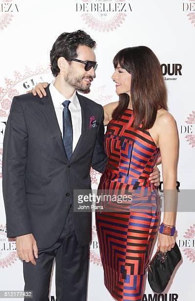 Khotan Fernandez and Candela Ferro attend the Glamour Beauty Awards Latin America 2016 at Palmeira Beach Club on February 24 2016 in Miami Florida