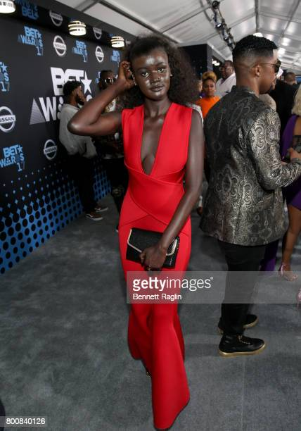 Khoudia Diop at the 2017 BET Awards at Staples Center on June 25 2017 in Los Angeles California