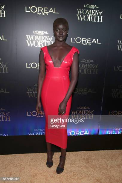 Khoudia Diop attends the L'Oreal Paris Women of Worth Celebration 2017 on December 6 2017 in New York City
