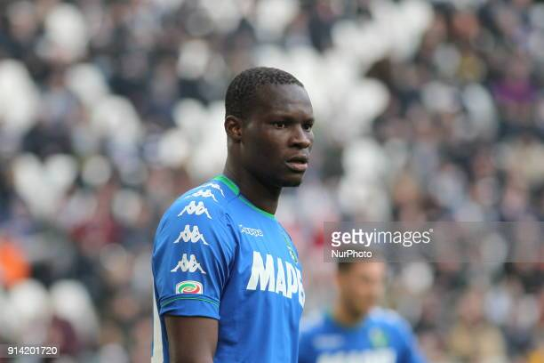 Khouma Babacar during the Serie A football match between Juventus FC and US Sassuolo at Allianz Stadium on 04 February 2018 in Turin Italy Juventus...