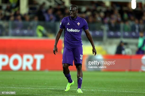 Khouma Babacar of ACF Fikorentina in action during the Serie A match between ACF Fiorentina v FC Internazionale at Stadio Artemio Franchi on April 22...