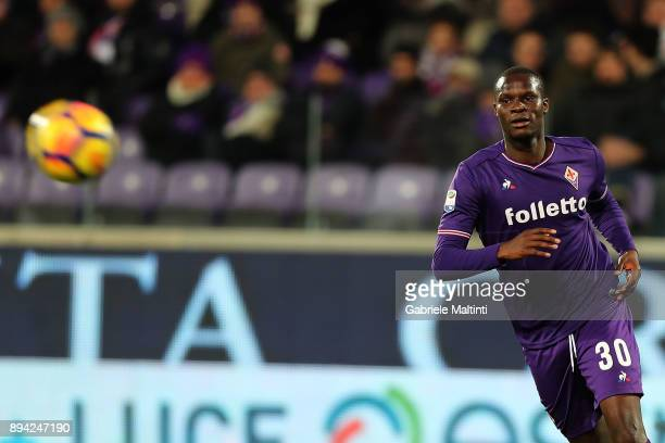 Khouma Babacar of ACF Fioentina in action during the Serie A match betweenACF Fiorentina and Genoa CFC at Stadio Artemio Franchi on December 17 2017...