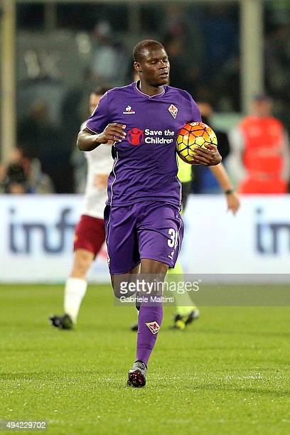 Khouma Babacar of ACF Fiorentina celebrates after scoring a goal during the Serie A match between ACF Fiorentina and AS Roma at Stadio Artemio...