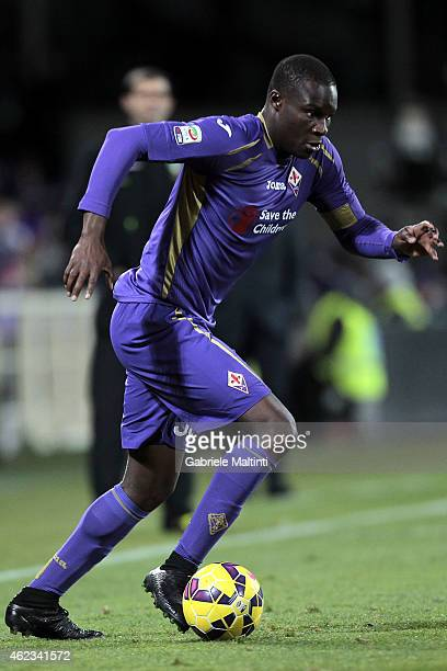 Khouma Babacar of ACF Fiorentina in action during the Serie A match between ACF Fiorentina and AS Roma at Stadio Artemio Franchi on January 25 2015...