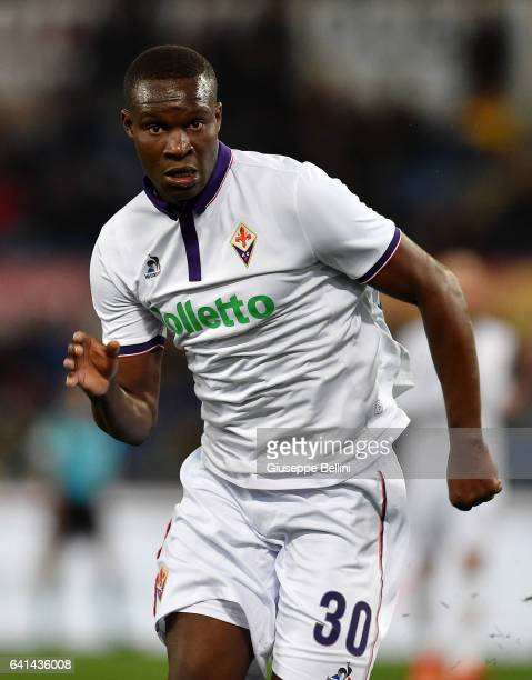 Khouma Babacar of ACF Fiorentina in action during the Serie A match between AS Roma and ACF Fiorentina at Stadio Olimpico on February 7 2017 in Rome...