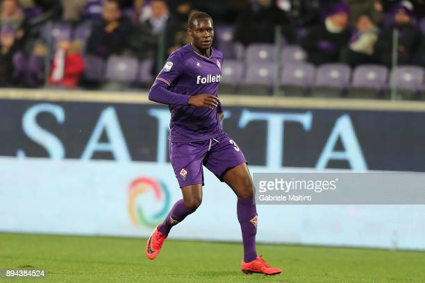 Khouma Babacar of ACF Fiorentina in action during the Serie A match betweenACF Fiorentina and Genoa CFC at Stadio Artemio Franchi on December 17 2017...