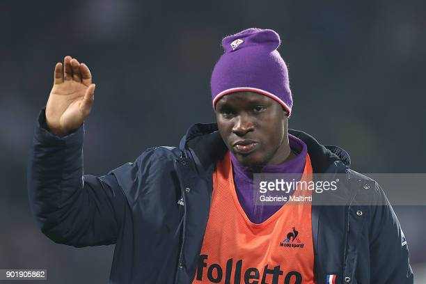 Khouma Babacar of ACF Fiorentina in action during the serie A match between ACF Fiorentina and FC Internazionale at Stadio Artemio Franchi on January...