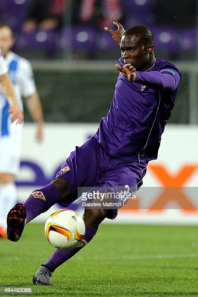 Khouma Babacar of ACF Fiorentina in action during the UEFA Europa League group I match between ACF Fiorentina and KKS Lech Poznan on October 22 2015...
