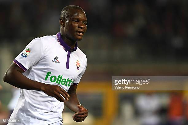 Khouma Babacar of ACF Fiorentina looks on during the Serie A match between FC Torino and ACF Fiorentina at Stadio Olimpico di Torino on October 2...