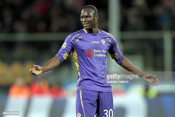 Khouma Babacar of ACF Fiorentina reacts during the Serie A match between ACF Fiorentina and Torino FC at Stadio Artemio Franchi on February 22 2015...