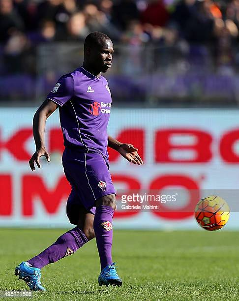 Khouma Babacar of ACF Fiorentina scores a goal during the Serie A match between ACF Fiorentina and Frosinone Calcio at Stadio Artemio Franchi on...