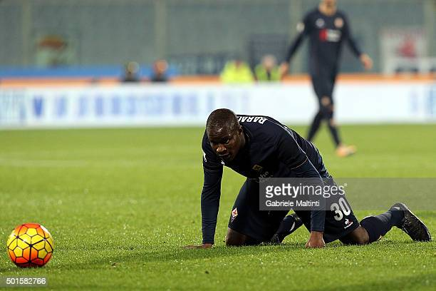 Khouma Babacar of ACF Fiorentina shows his dejection during the TIM Cup match between ACF Fiorentina and Carpi FC at Stadio Artemio Franchi on...