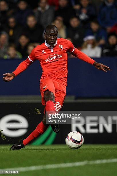 Khouma Babacar of Fiorentina in action during the UEFA Europa League match between FC Slovan Liberec and ACF Fiorentina at U Nisy Stadium on October...