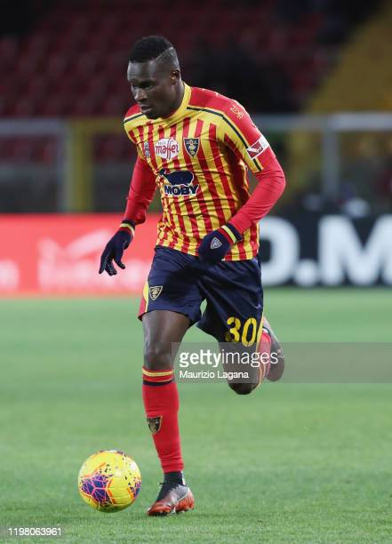 Khouma Babacar of Lecce during the Serie A match between US Lecce and Udinese Calcio at Stadio Via del Mare on January 5 2020 in Lecce Italy