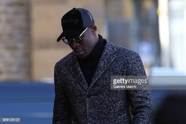 Khouma Babacar of Sassuolo Calcio ahead of the funeral service on March 8 2018 in Florence Italy The Fiorentina captain and Italy international...