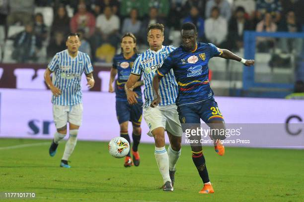 Khouma Babacar of US Lecce in action during the Serie A match between SPAL and US Lecce at Stadio Paolo Mazza on September 25 2019 in Ferrara Italy
