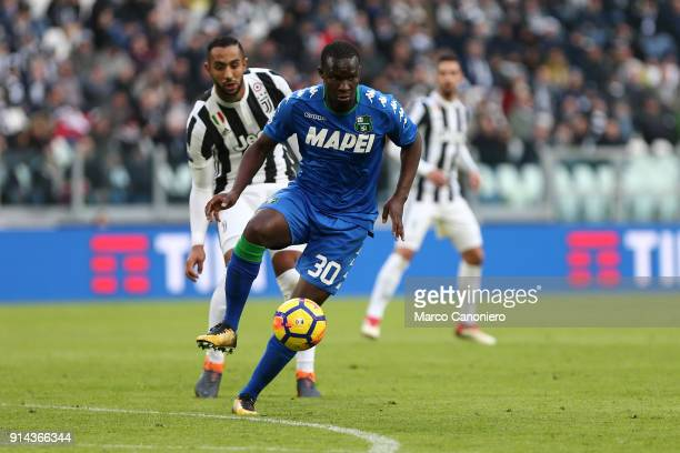 Khouma Babacar of Us Sassuolo Calcio in action during the Serie A football match between Juventus FC and Us Sassuolo Calcio Juventus Fc wins 70 over...