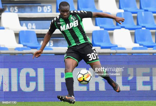 Khouma Babacar of US Sassuolo in action during the serie A match between US Sassuolo and Benevento Calcio at Mapei Stadium Citta' del Tricolore on...