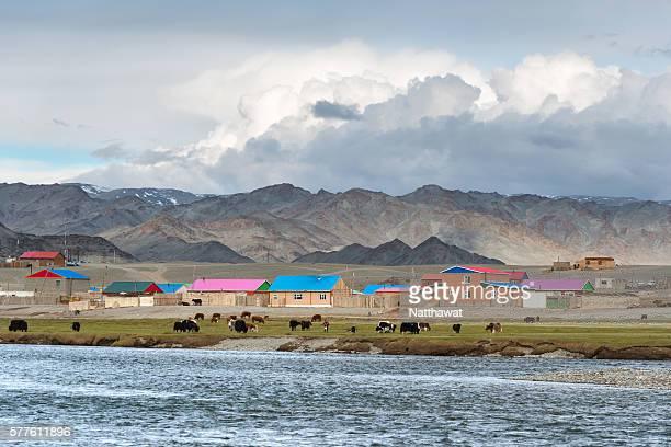 Khovd River Valley and Tsengel village, Bayan-Olgii Province, Mongolia